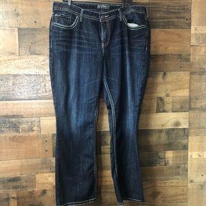 Silver Jeans Dark Wash NatSuki Bootcut Jeans